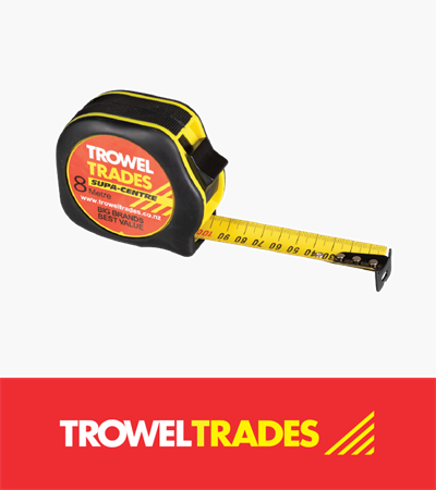 Trowel Trades Tape Measure 8m x 25m