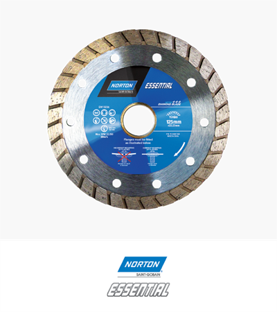 Norton Essential Turbo Diamond Blade 125x2.2x722.23/20.0mm